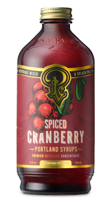 Spiced Cranberry Syrup: Cocktail & Soda Syrup, 12oz