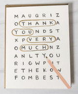 """Thank You Very Much Crossword,"" Rifle Paper Co. Blank Greeting Card"