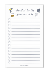 """Checklist for a Grown-Ass Lady"" Notepad"