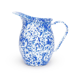 Small Enamelware Pitcher, Blue & White Marble