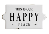 """Our Happy Place"" Enameled Sign"