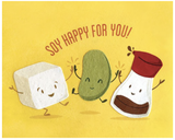 """Soy Happy For You"" Blank Greeting Card"