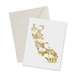 Golden State Gold Foil, blank greeting card