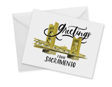 Greetings from Sacramento, blank greeting card