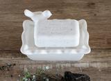 Ceramic Soap Dish with Bird, 2 pieces