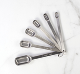 SS Spice Measuring Spoons, set of 6, matte finish