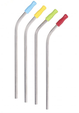 Silicone Straw Tips, set of 12