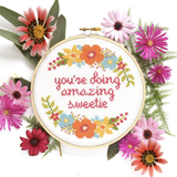 You're Doing Amazing Sweetie Cross Stitch Kit