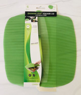 "Banana Leaf Silicone Lid, 10""x10"" square"