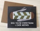 Pocketknife Father's Day, blank greeting card