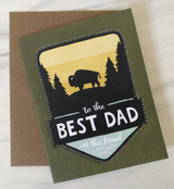 """Best Dad in the Land,"" Blank Greeting Card"