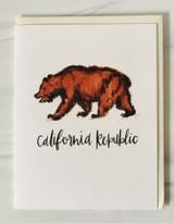 """California Republic"" Bear, Blank Greeting Card"