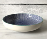 "Shallow Stamped Bowl, 8.5"" assorted designs"