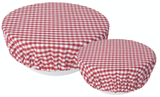 Red Gingham, Bowl Cover, set/2