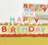 """Party Candles: """"Happy Birthday"""" set"""
