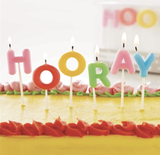 "Party Candles: ""Hooray"" set"
