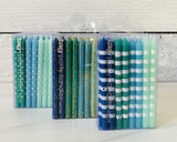 Birthday Candles, Greens/Blues in Assorted Designs