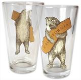 California Bear Hug Pint Glass, 16oz
