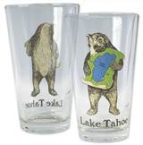 Lake Tahoe Bear Pint Glass, 16oz