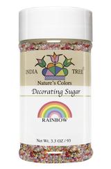 Rainbow Decorating Sugar,  3.3 oz