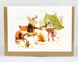 "Barefoot Critters ""Campfire Critters,"" Blank Greeting Card"