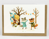 """Barefoot Critters """"Dancing Critters,"""" Blank Greeting Card"""