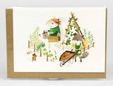 "Barefoot Critters ""Gardening Critters,"" Blank Greeting Card"