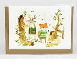 "Barefoot Critters ""Gathering Honey,"" Blank Greeting Card"