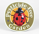 """Pesticide Free Garden"" Ladybug, Metal Garden Sign, 9"""
