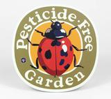 """Pesticide Free Garden"" Ladybug, Metal Garden Sign, 9"""