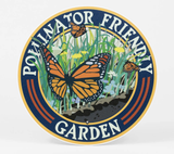 """Pollinator Friendly Garden"" Butterfly, Metal Garden Sign 9"""