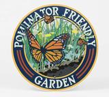 """Pollinator Friendly Garden"" Butterfly, Metal Garden Sign 9"""