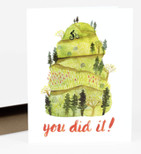 """You Did It!"" Blank Greeting Card"