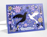 """Congratulations"" Love Birds, Blank Greeting Cards"