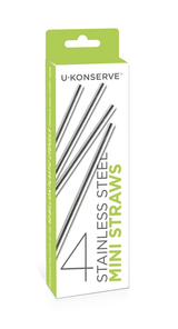 Stainless Steel Mini Straws, Set/4