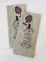 """Love the Wine You're With"" Chambray Tea Towel"