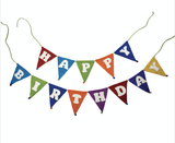 Happy Birthday Wool Felt Banner