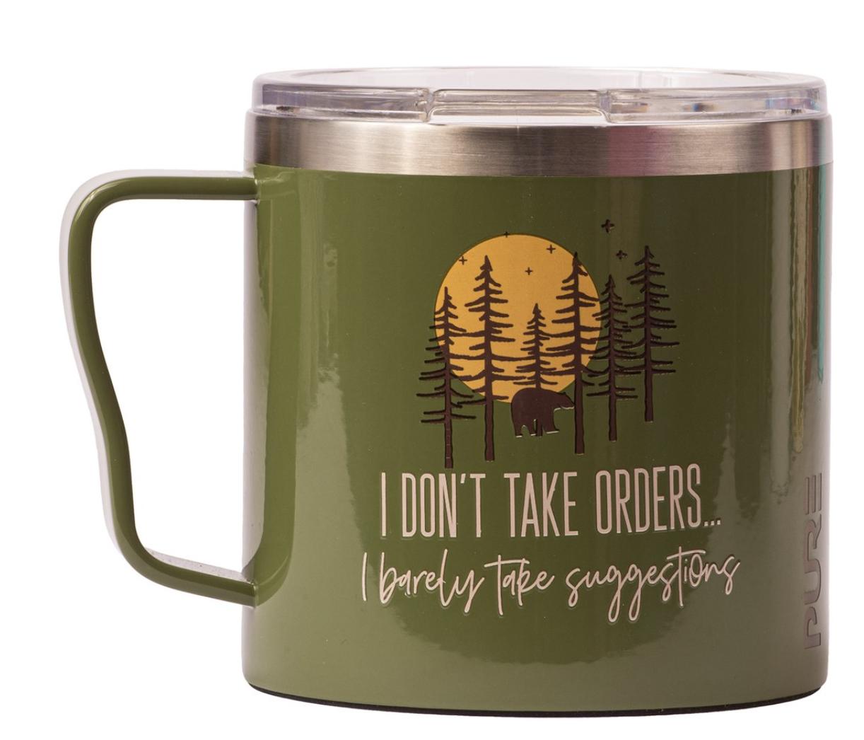 PURE Insulated Mug, 16oz, Assorted Designs