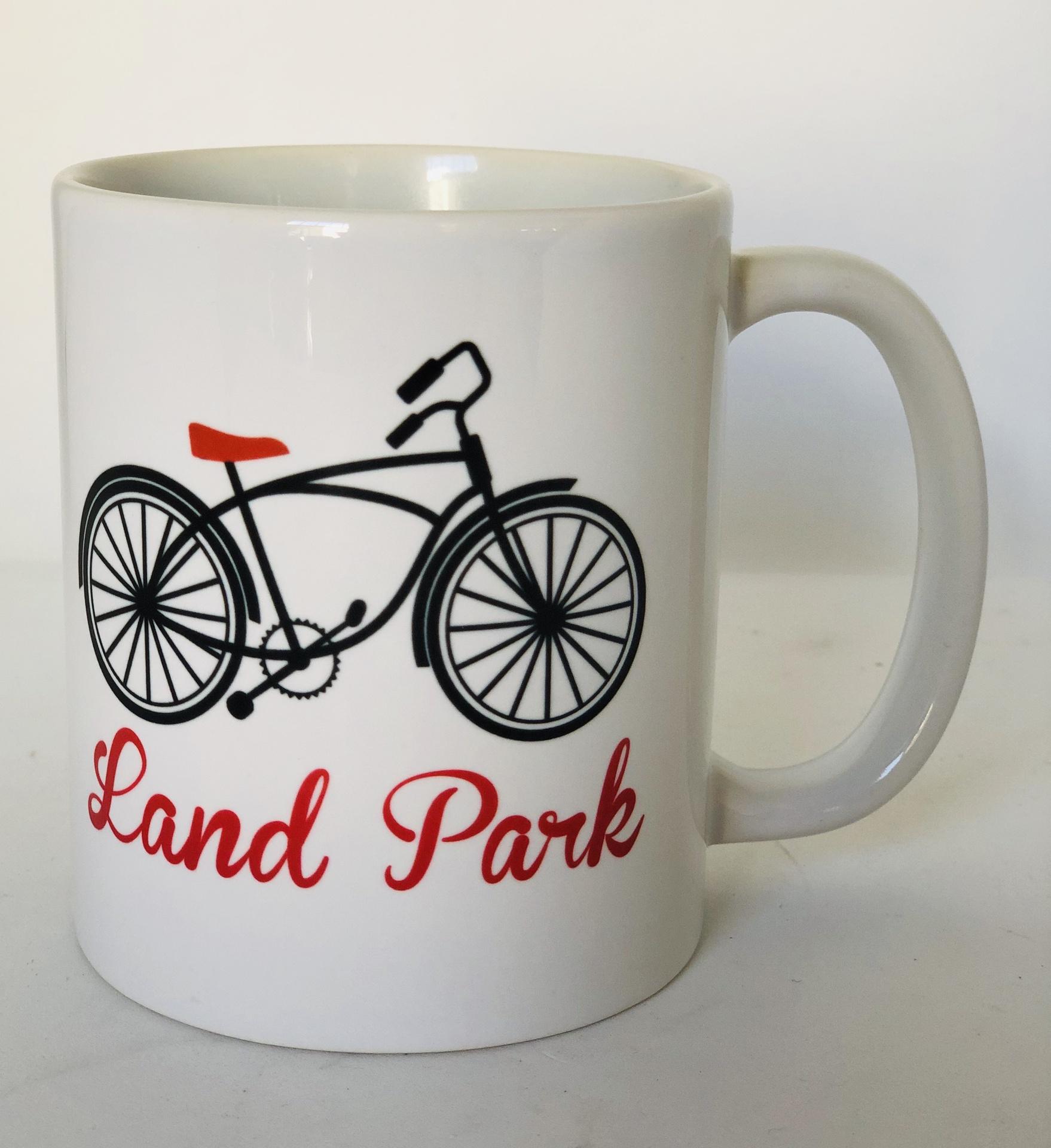 Ruby Dot Neighborhood Bike Mug--CHOOSE NEIGHBORHOOD