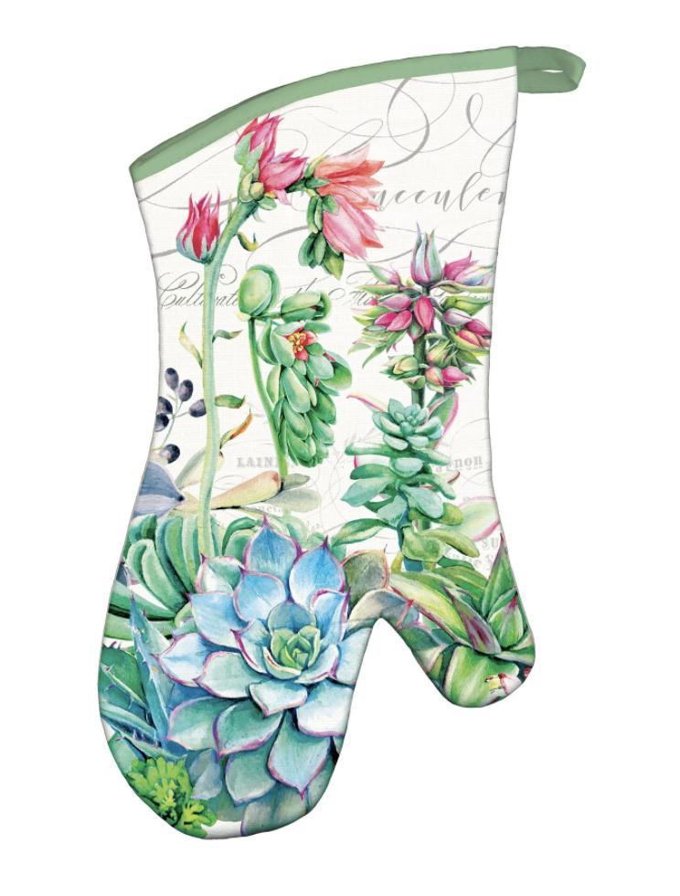 Michel Design Oven Mitt: Pink Cactus