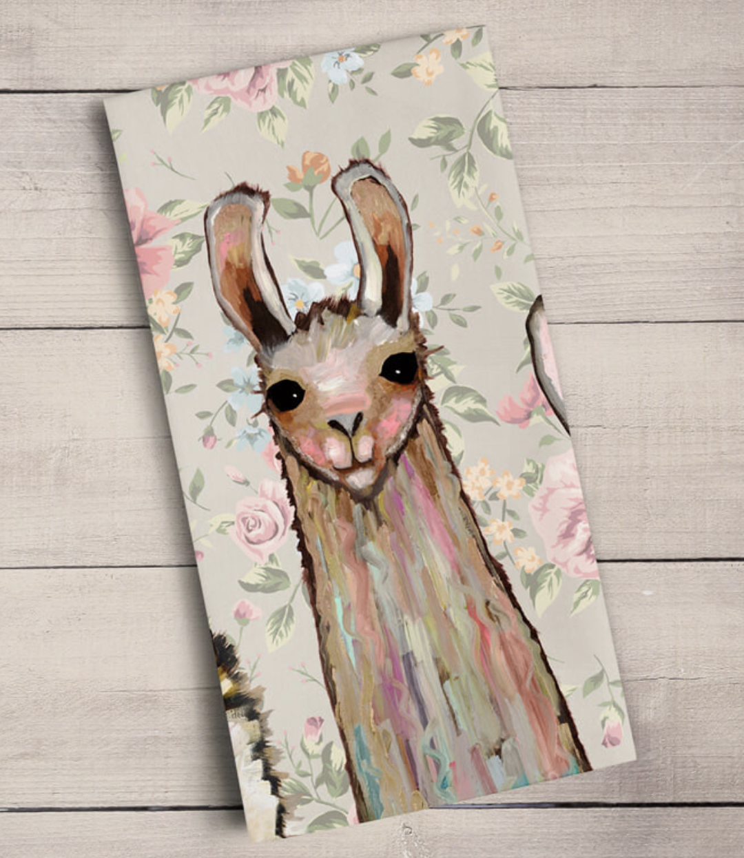 Baby Llama & Friends: Tea Towel