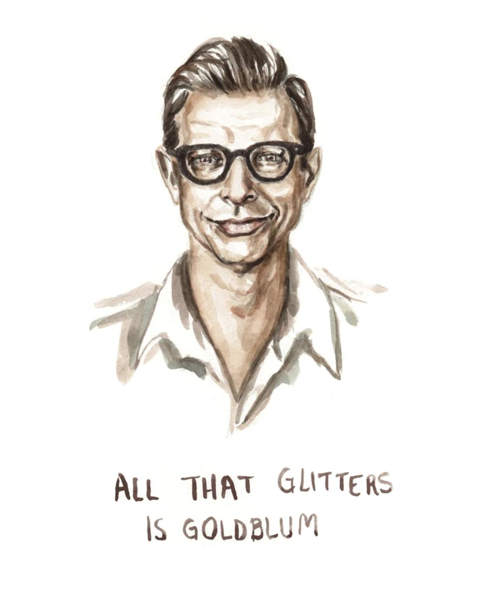 All That Glitters is Goldblum, Blank Greeting Card