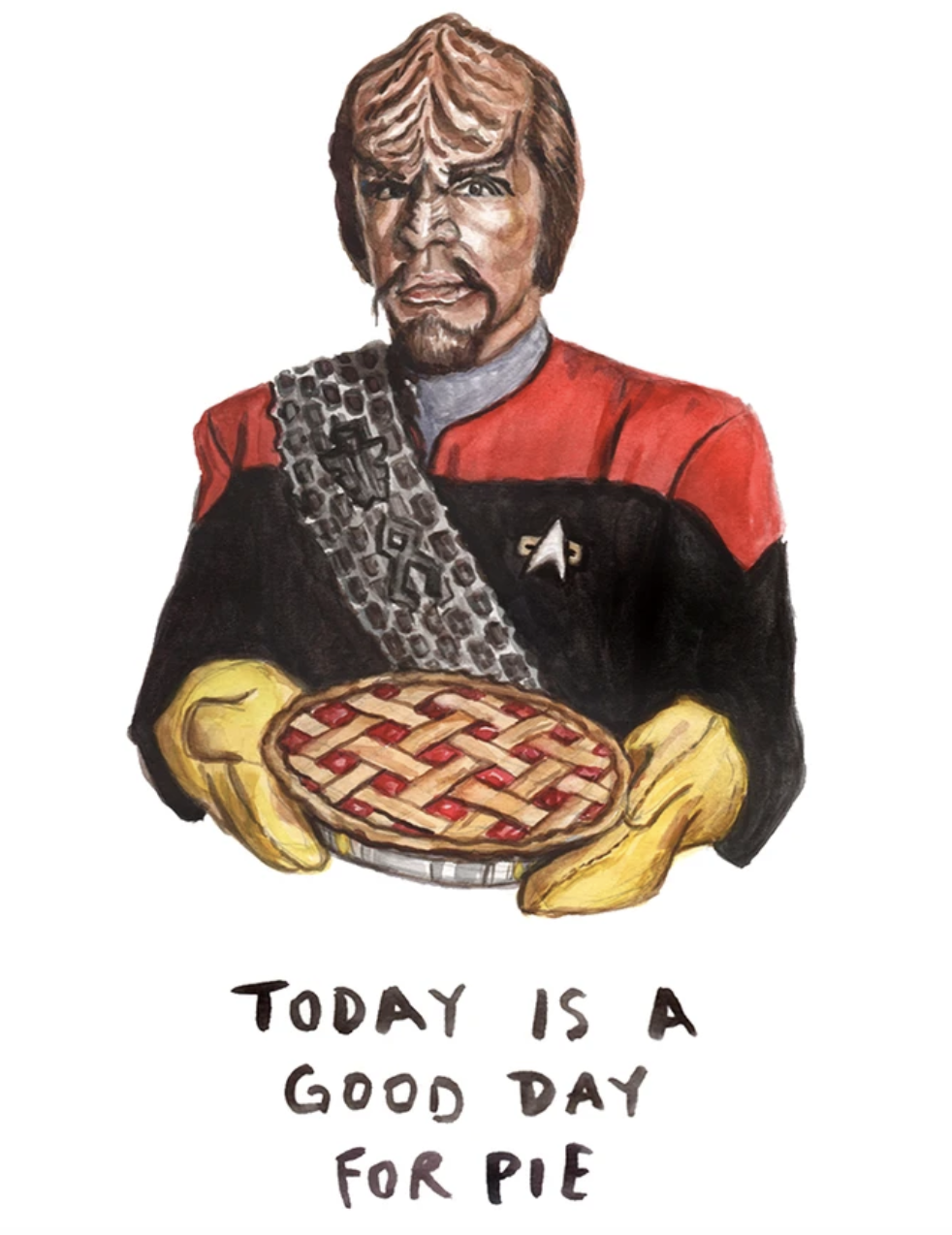 Good Day for Pie, Blank Greeting Card