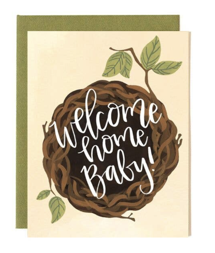 """Nest """"Welcome Home Baby,"""" Blank Greeting Card"""