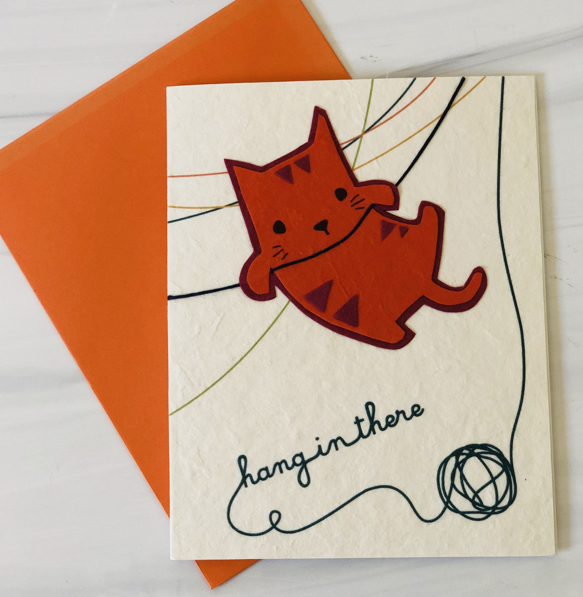 """""""hang in there,"""" Blank Greeting Card"""