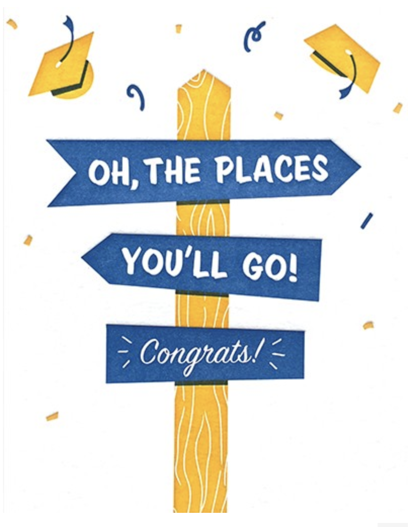 """""""Oh the Places You'll Go,"""" Blank Greeting Card"""