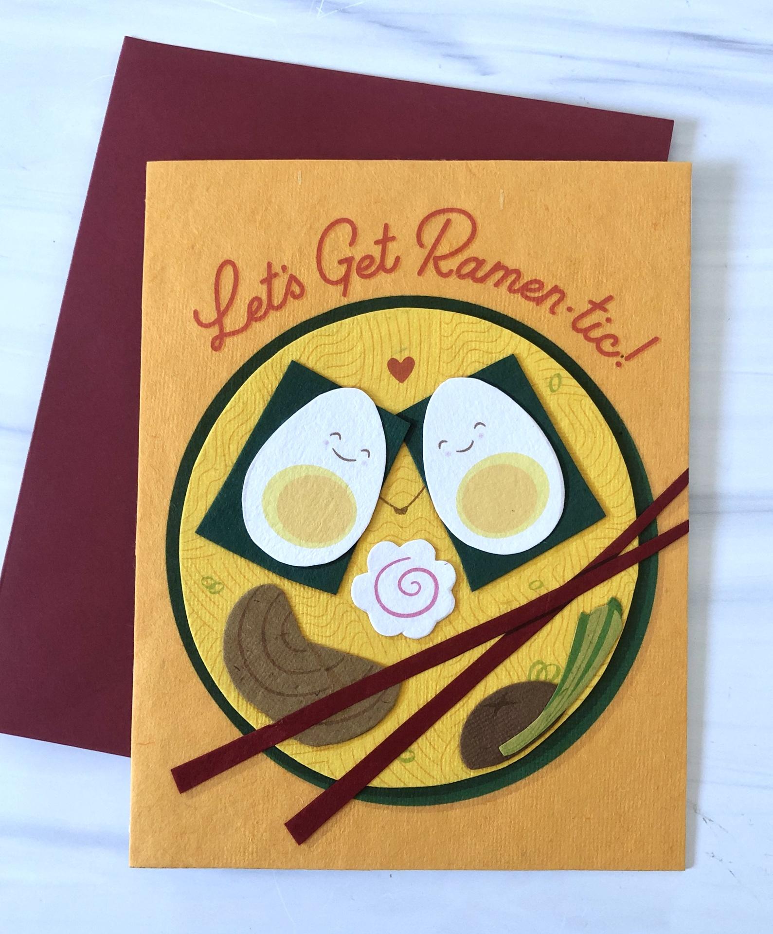 """""""Ramen-tic,"""" Blank Greeting Card"""