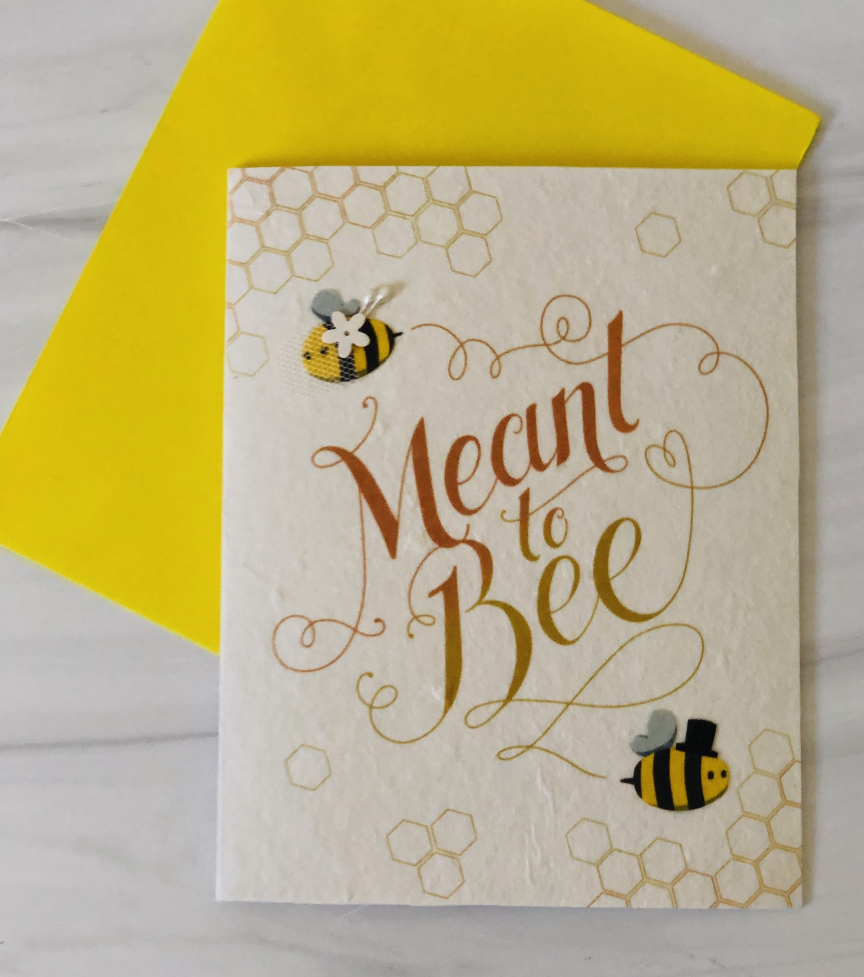 """""""Meant to Bee,"""" Blank Greeting Card"""