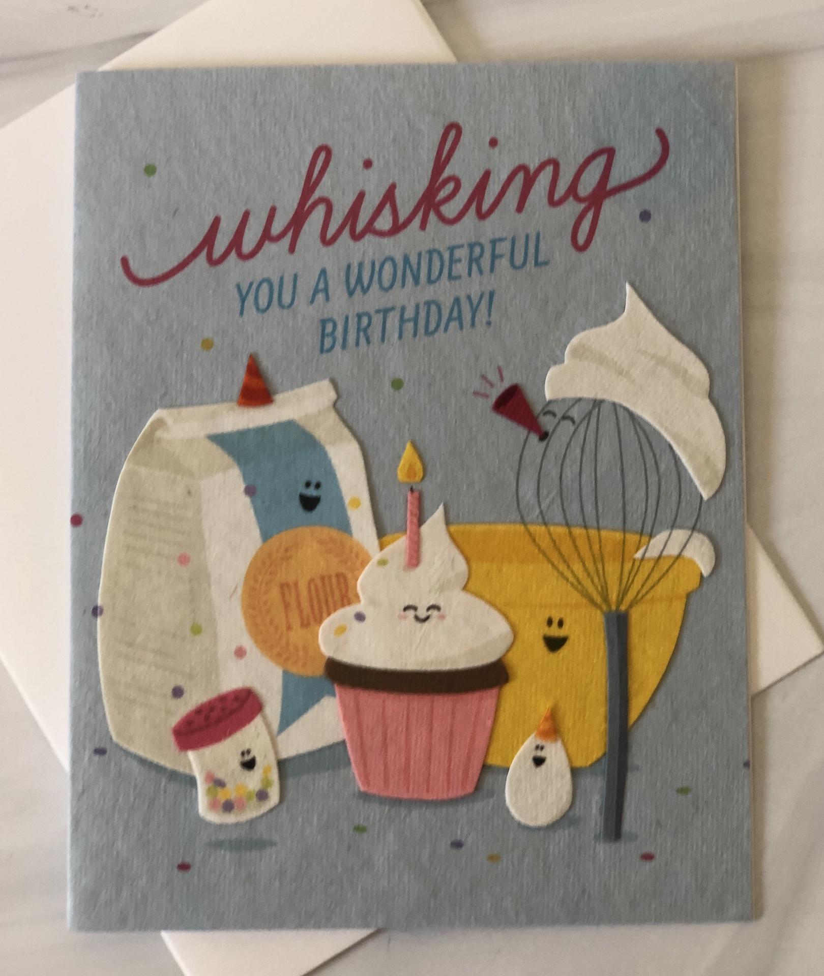 """Whisking You a Wonderful Birthday,"" Blank Greeting Card"