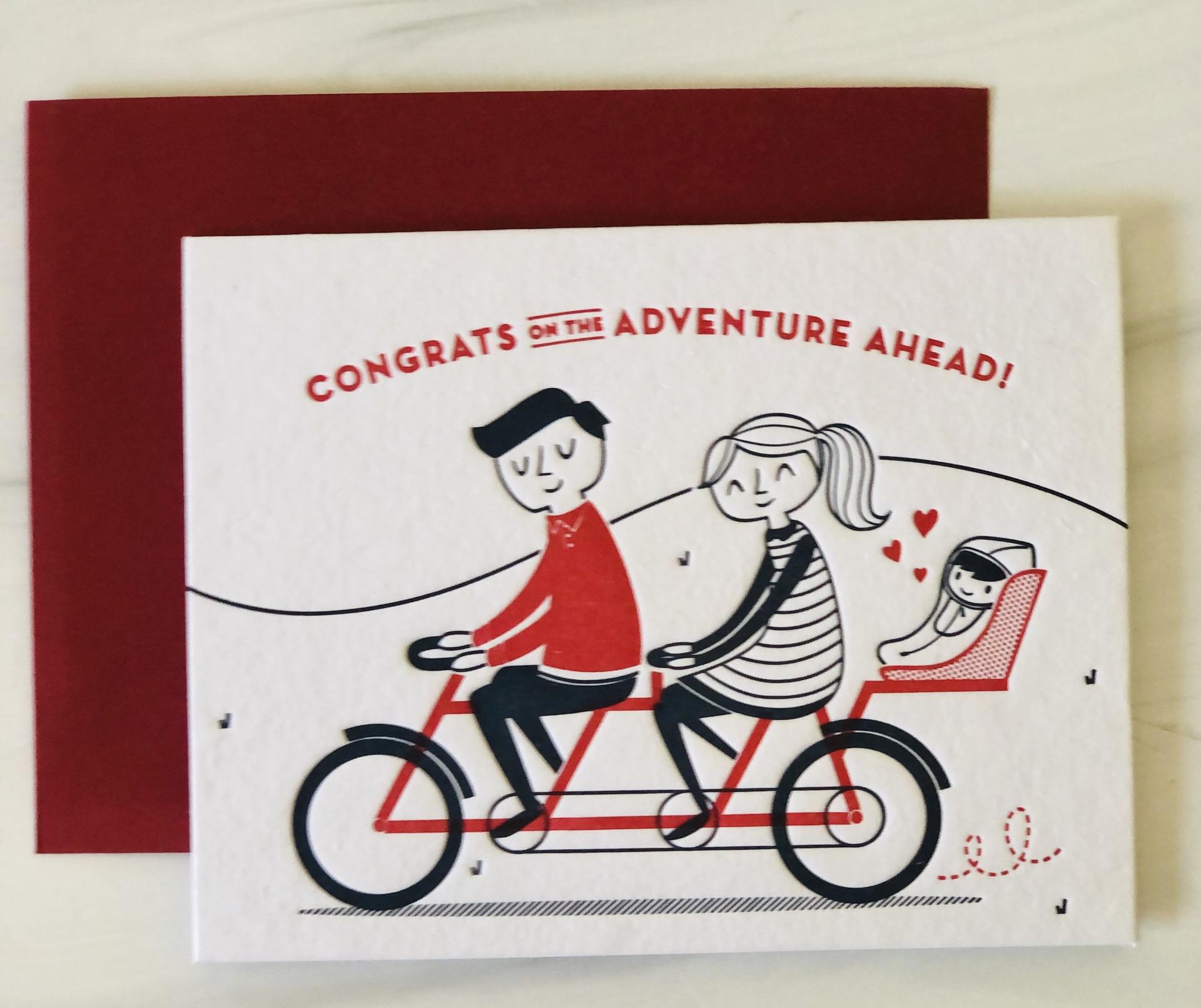 Adventure Baby Bike, Blank Greeting Card
